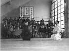 Tadashi Abe with Kenshiro Abbe - Preparing for a Kenjitsu demonstration